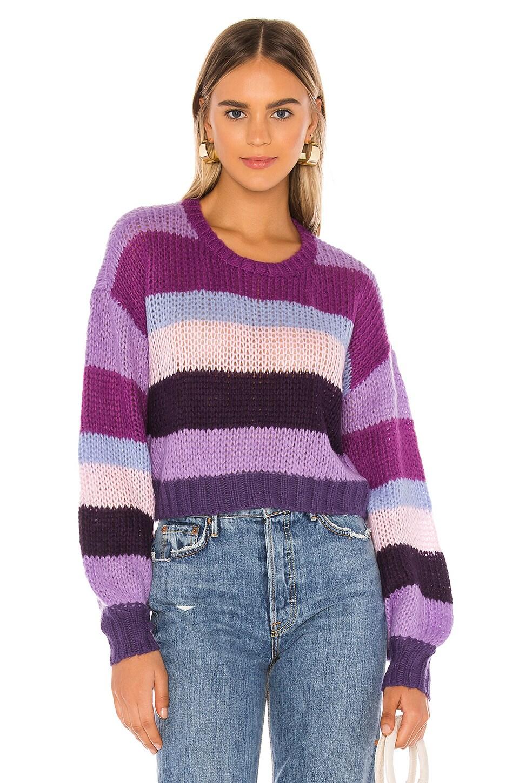 Tularosa Moon Sweater in Purple Stripe