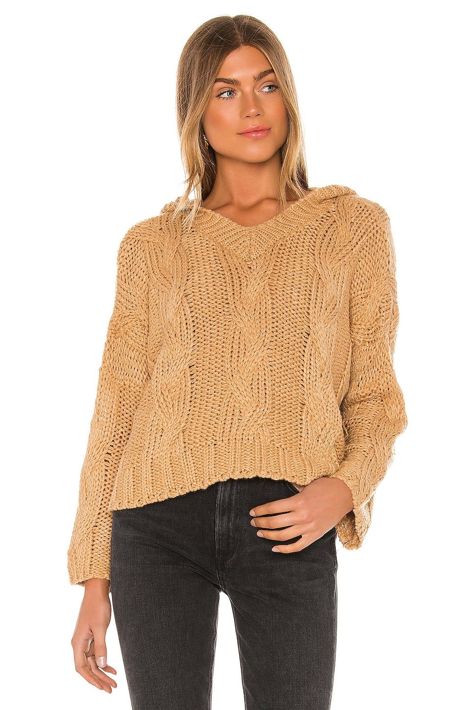 Tularosa Apryl Pullover Sweater in Taupe