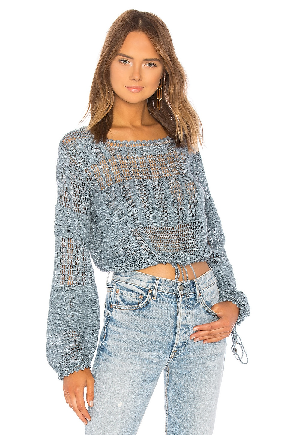 Tularosa Willow Pullover in Blue Sage