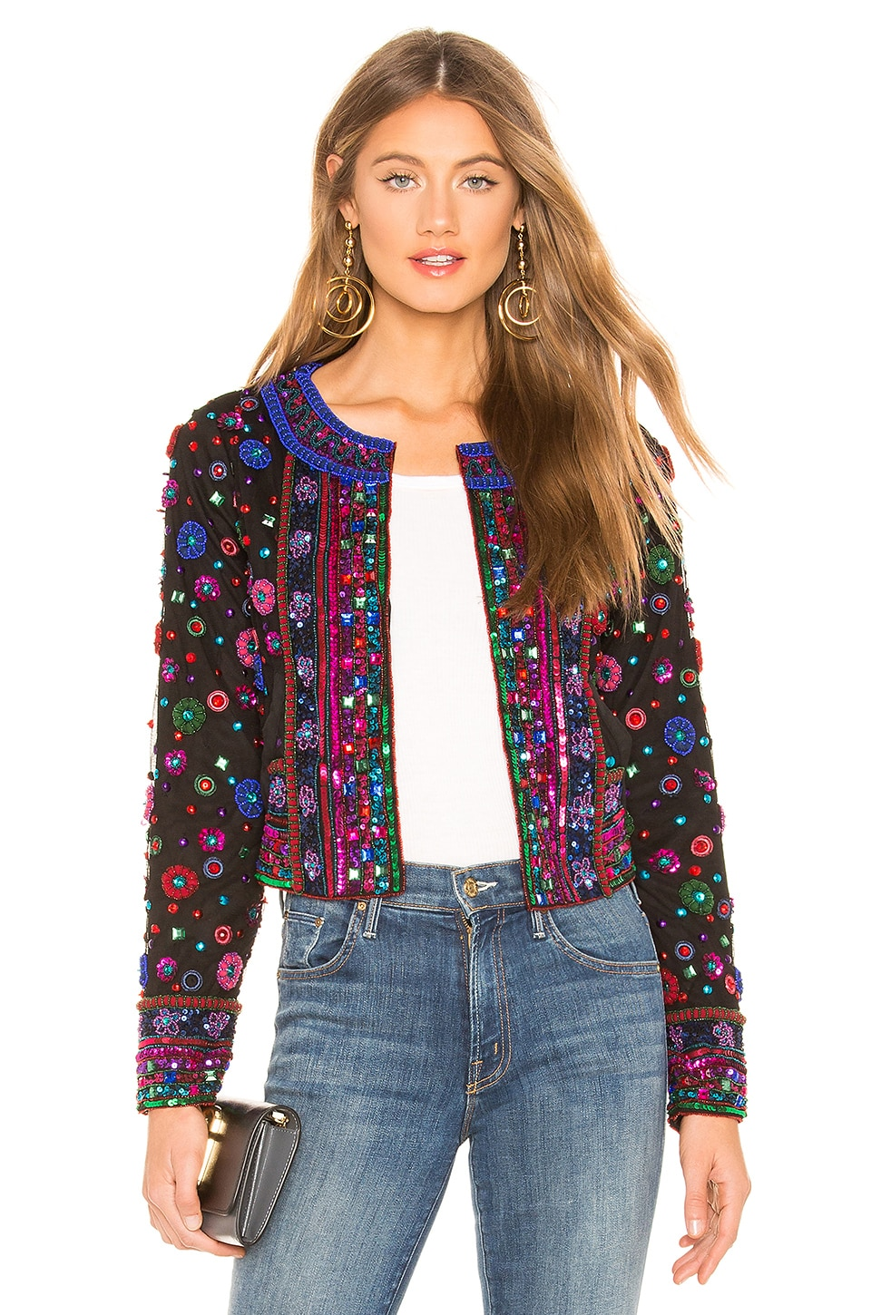 Tularosa Georgina Jacket in Pink Multi