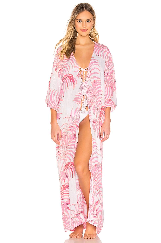 Tularosa Marina Robe in Pink Palm Print
