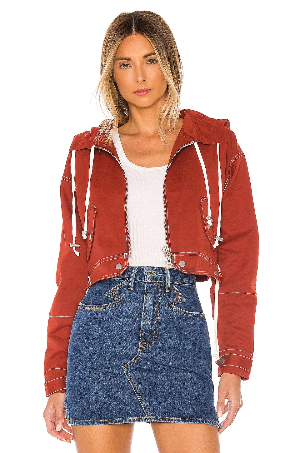 Tularosa The Mimi Jacket in Brick Red