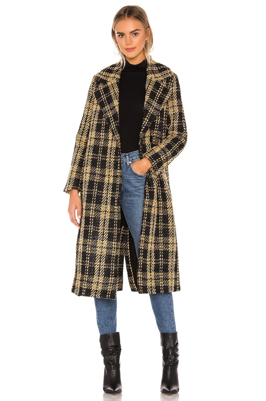 Tularosa Valentina Coat in Black & Tan