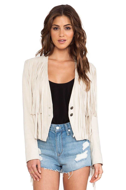 Tularosa Knox Fringe Jacket in Cream