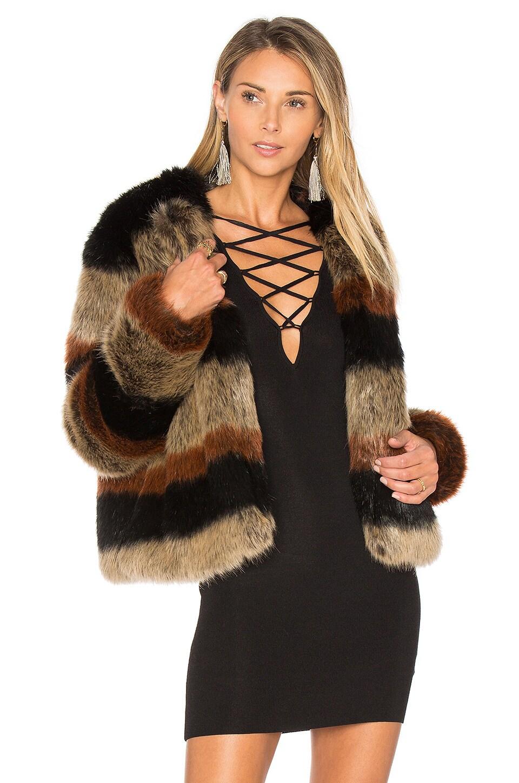 Harkin Faux Fur Jacket by Tularosa