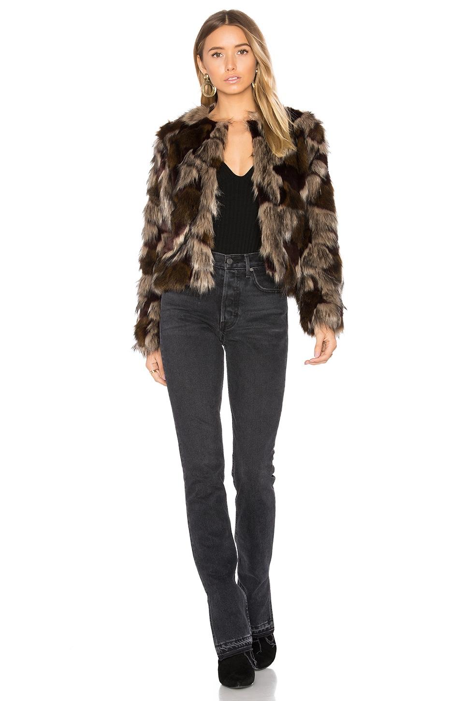 Tularosa Harkin Faux Fur Coat in Multi