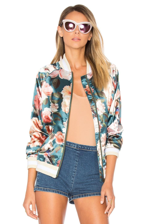 Tularosa x REVOLVE Emma Bomber Jacket in Jade Floral