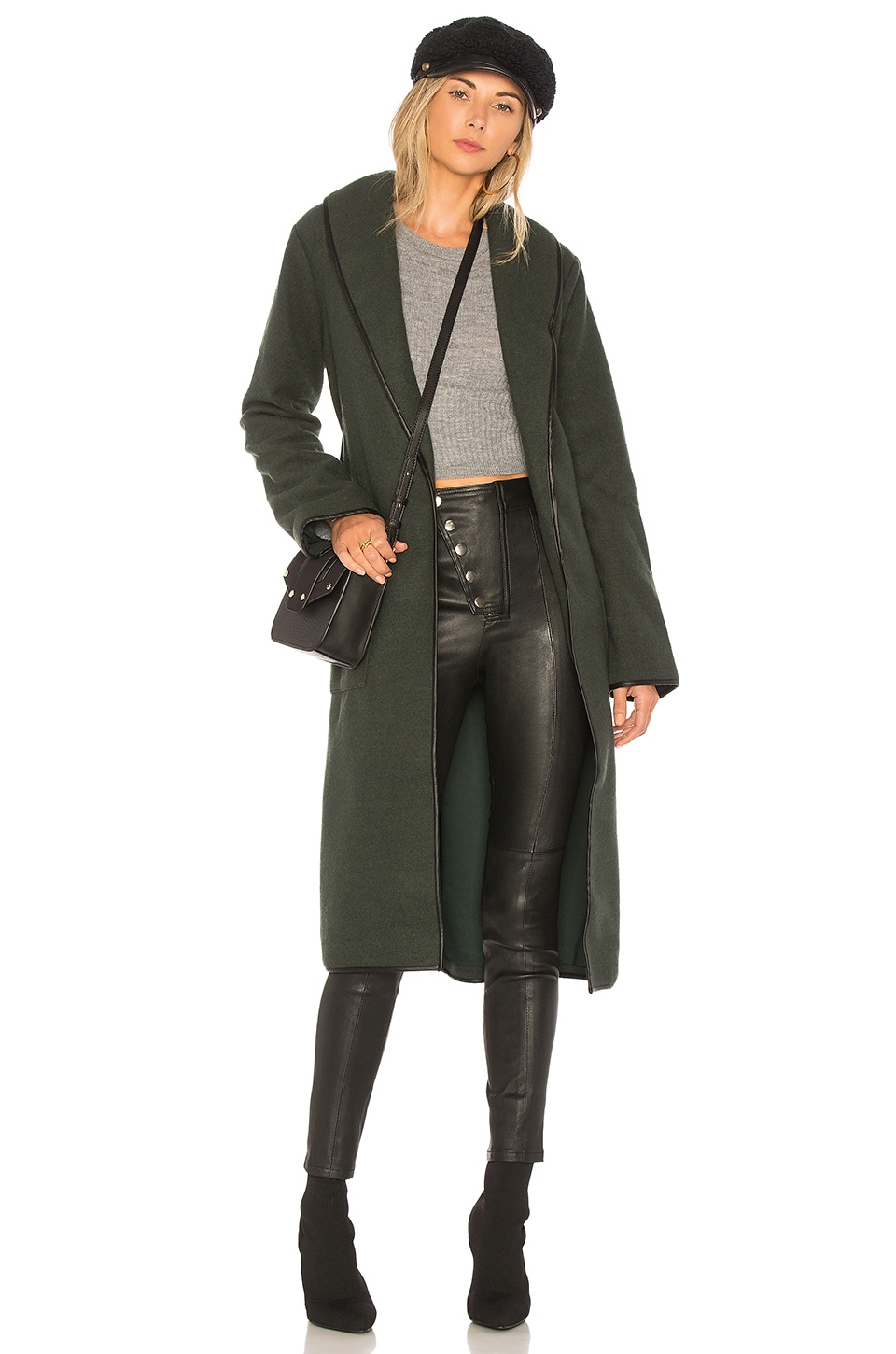 Tularosa Nadia Coat in Olive Green