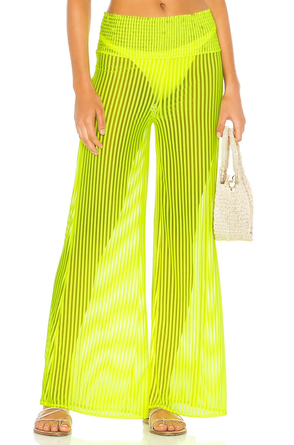Tularosa Lara Pant in Neon Yellow