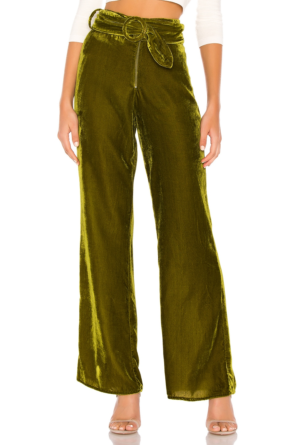 Tularosa Ruth Belted Pant in Moss Green