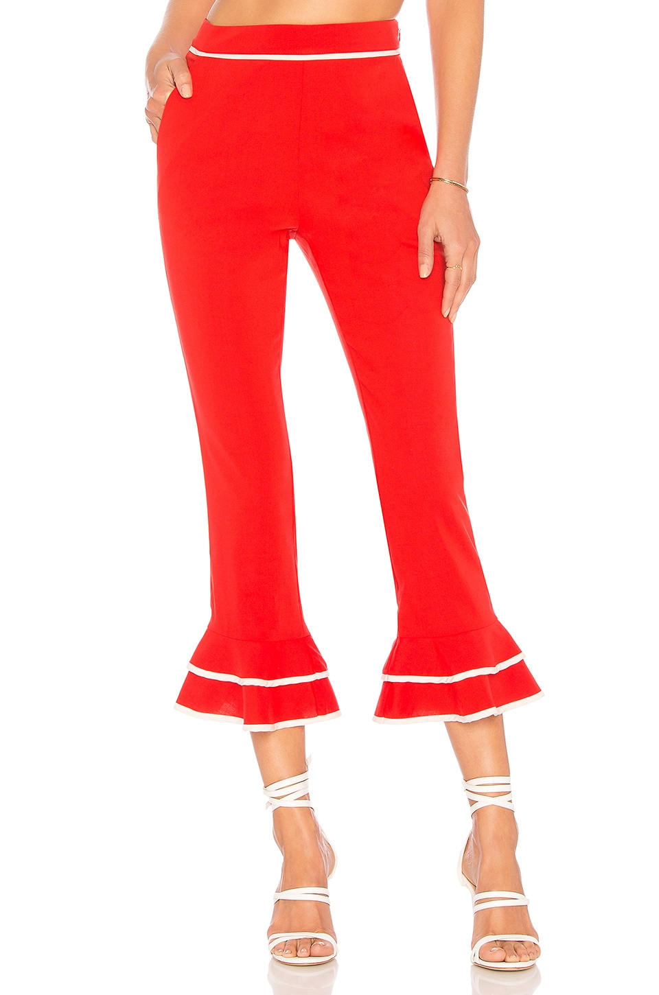Tularosa Demi Pant in Bright Red
