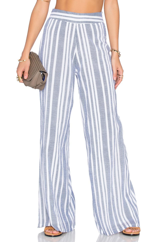 Tularosa Marley Pant in Blue & White