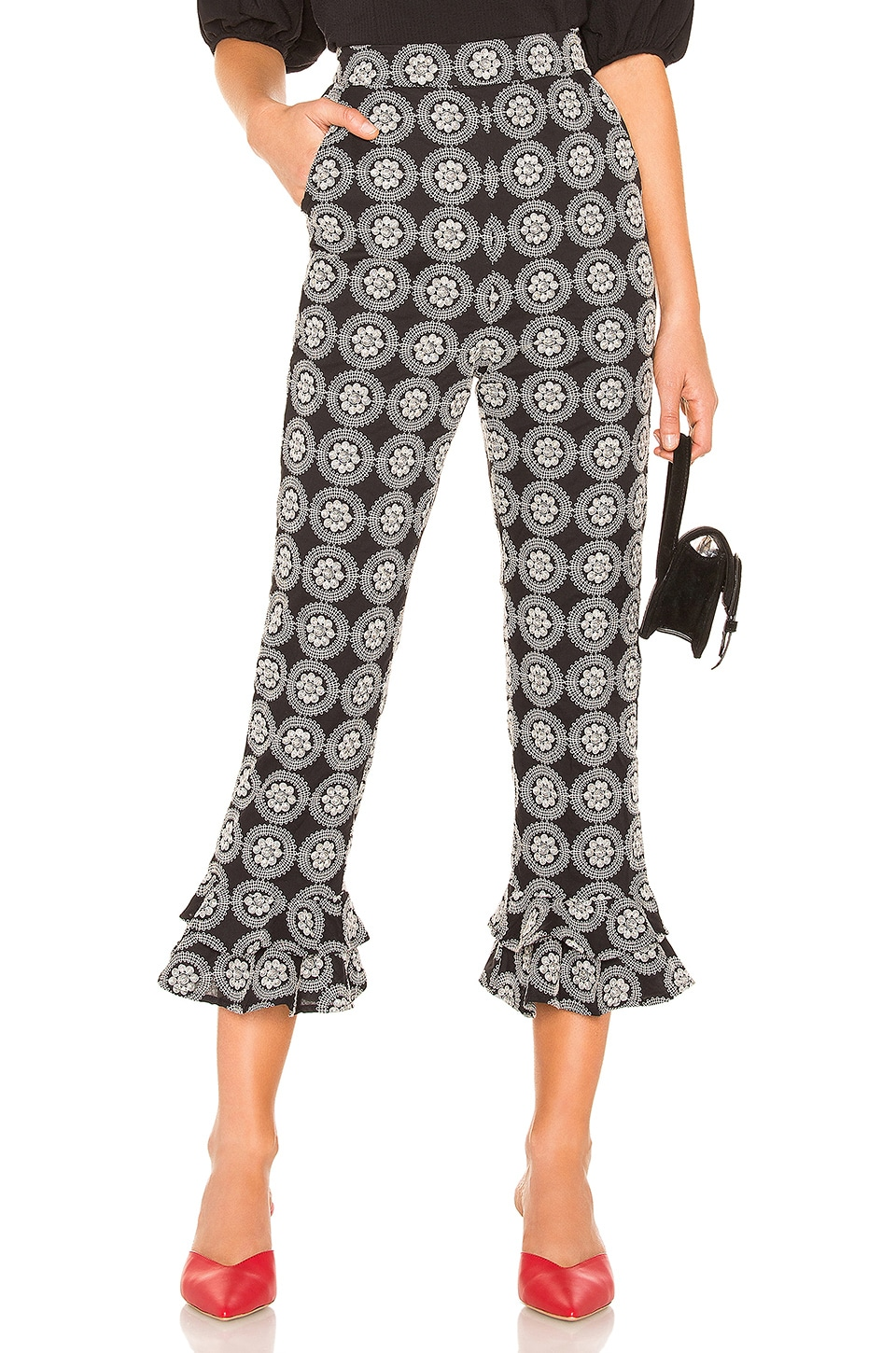 Tularosa Demi Pant in Black & Ivory