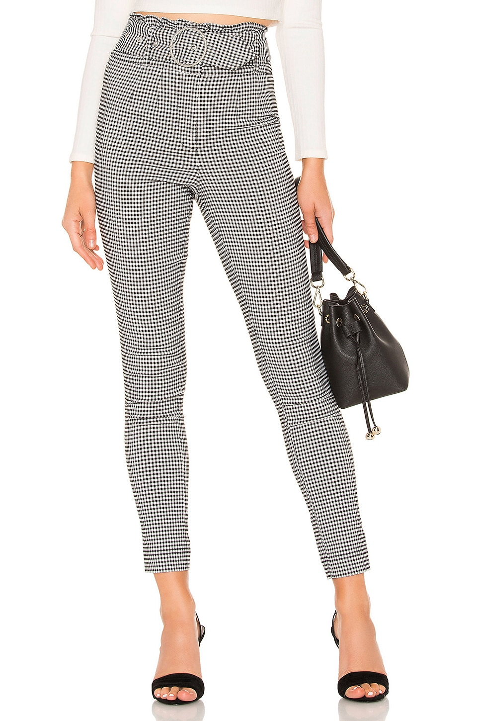Tularosa Marz Skinny Pants in Black & White
