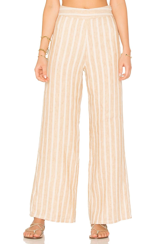 Tularosa x REVOLVE Marley Pants in Natural Stripe Linen