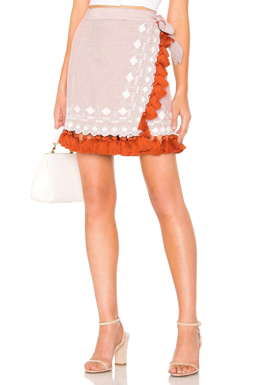 Tularosa Hyde Skirt in Rust Stripe