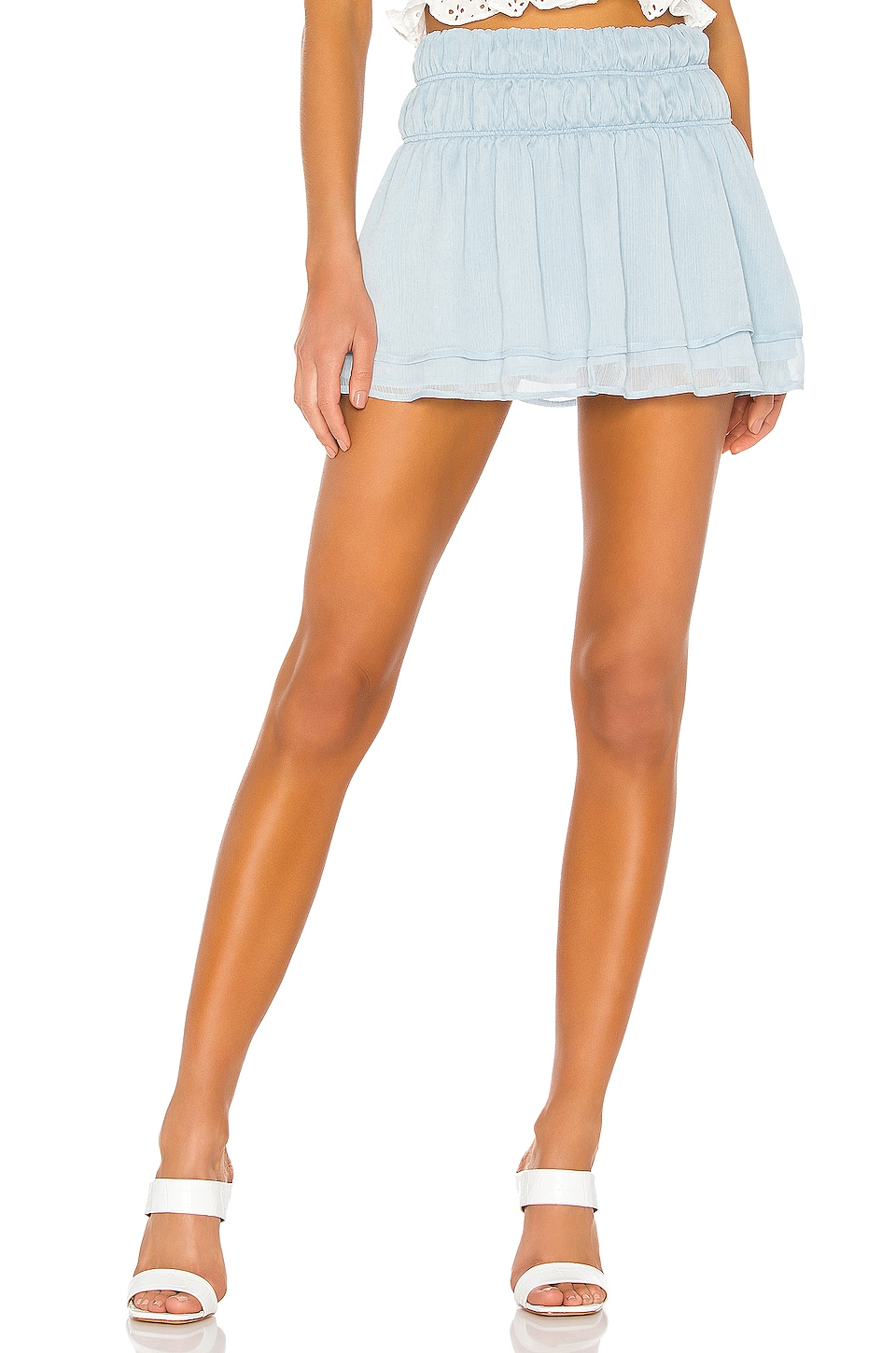 Tularosa Natalie Skirt in Baby Blue