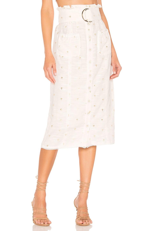 Tularosa Jenna Skirt in White