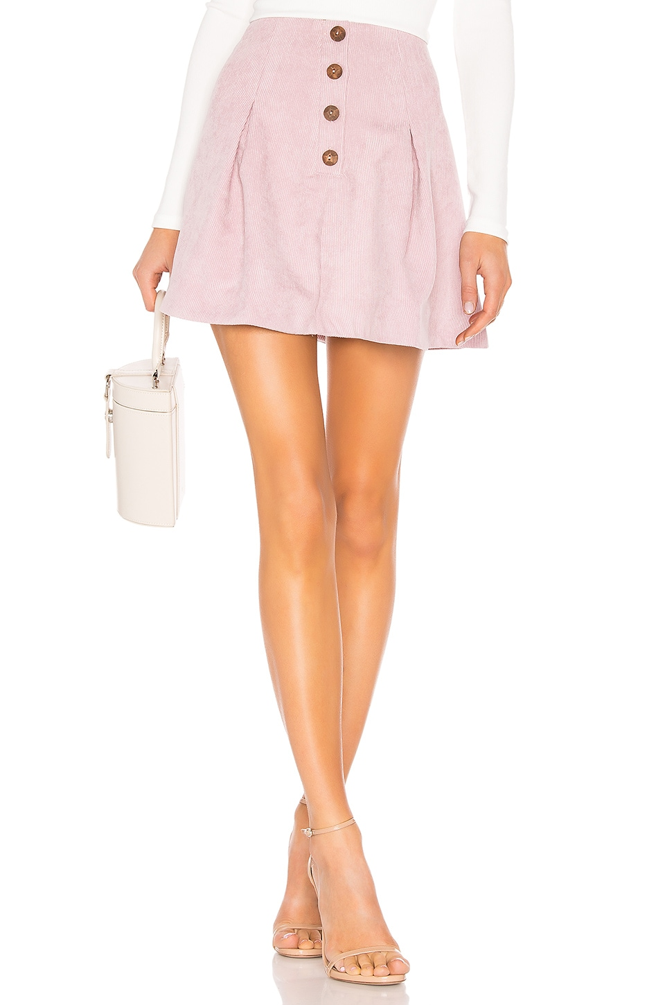 Tularosa Kendall Button Front Skirt in Lavender