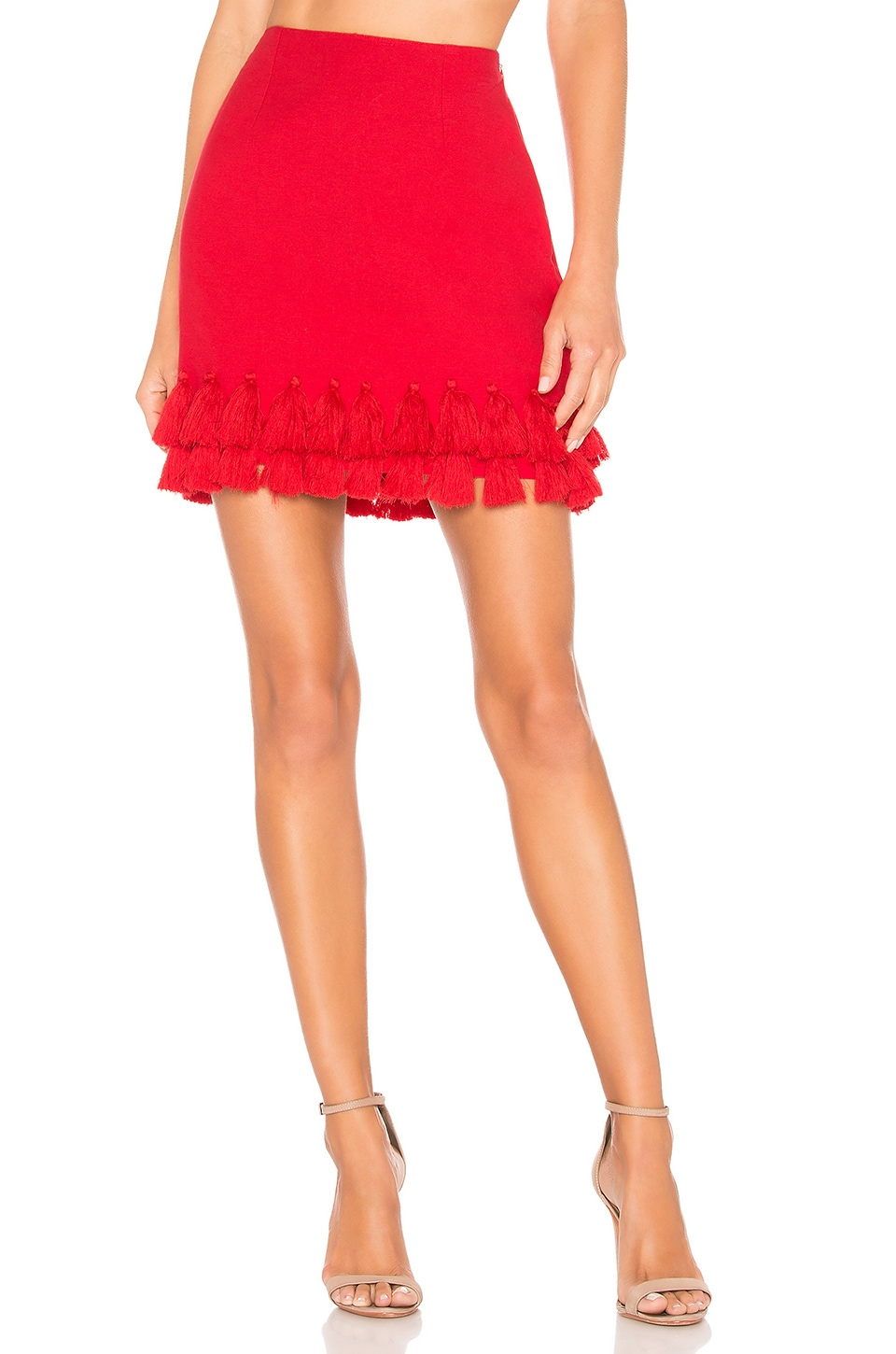 Tularosa Millie Skirt in Bright Red