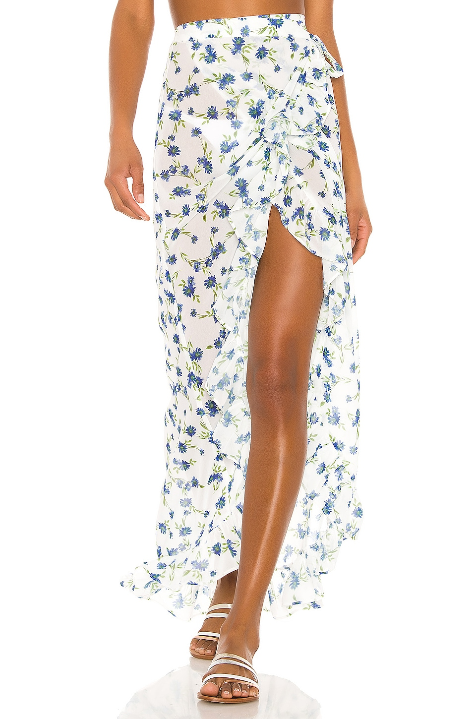 Tularosa Nala Wrap Skirt in Forget Me Not Floral