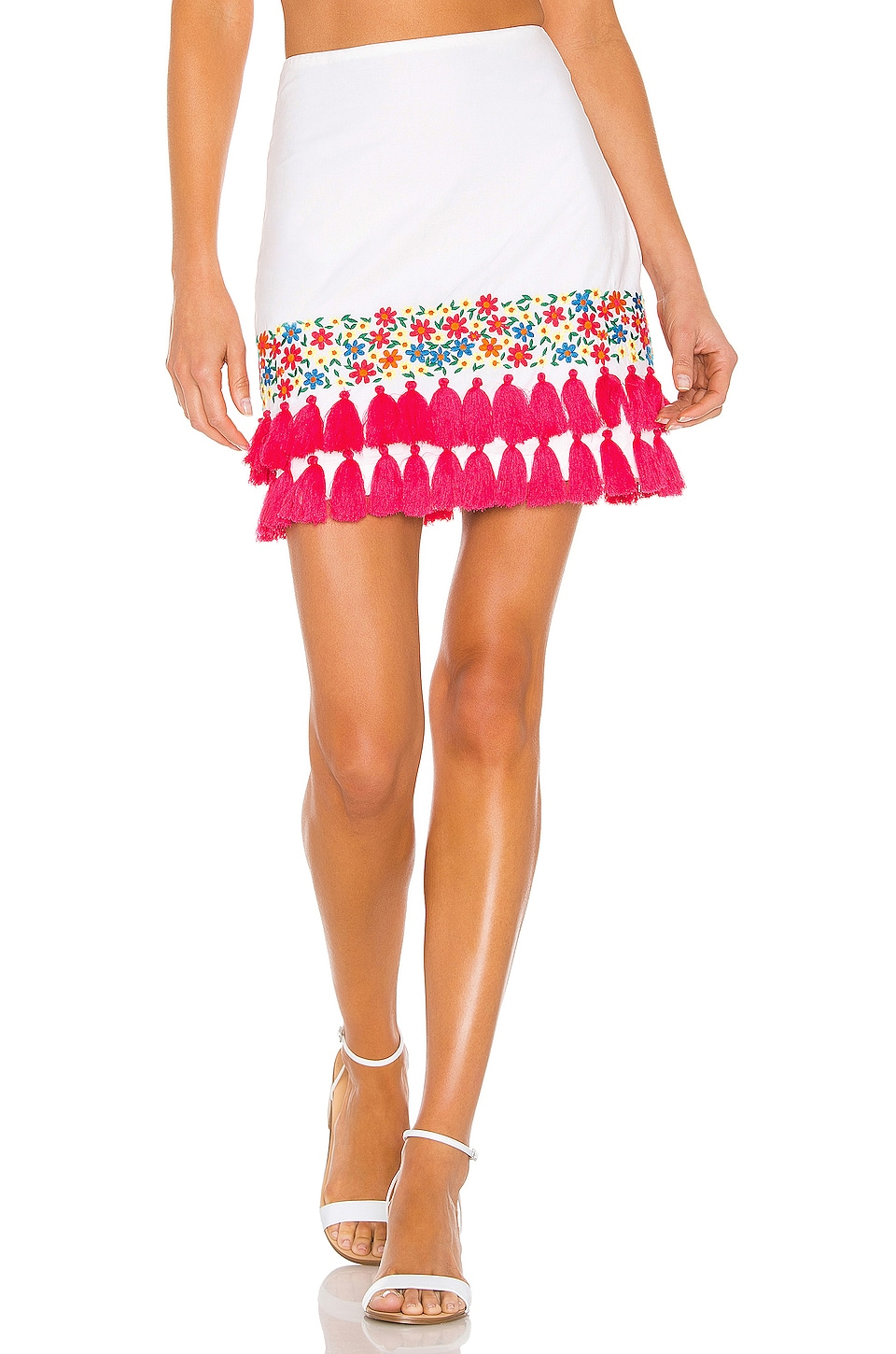Tularosa Millie Skirt in White Multi