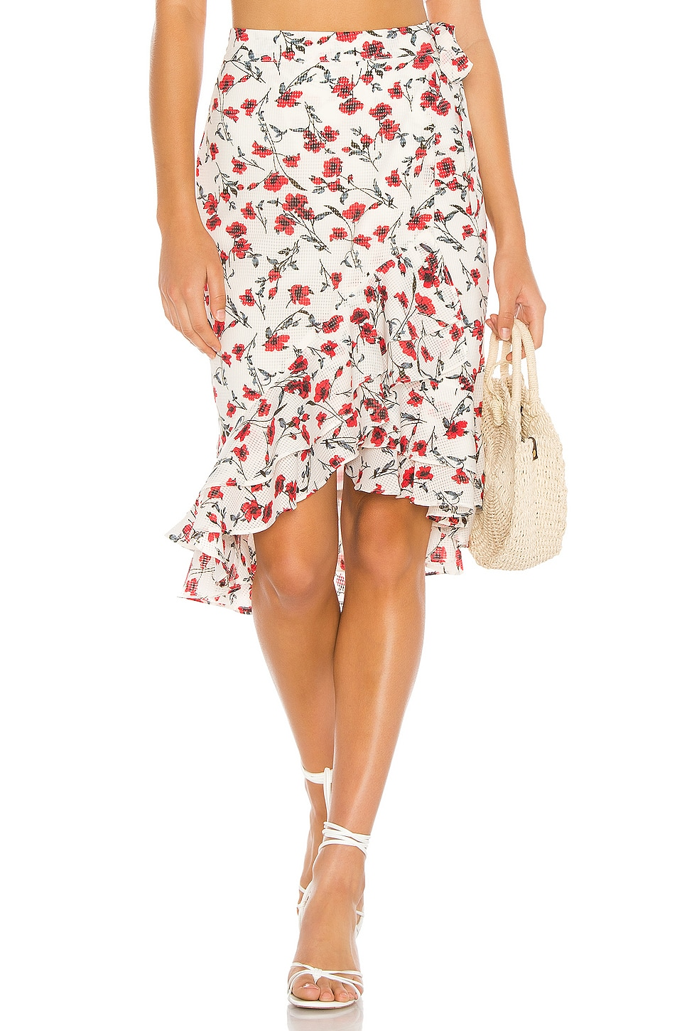 Tularosa Veronica Skirt in Red Dolly Floral