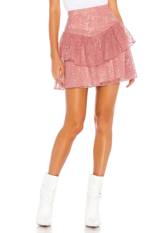 Tularosa Kai Skirt in Dusty Rose