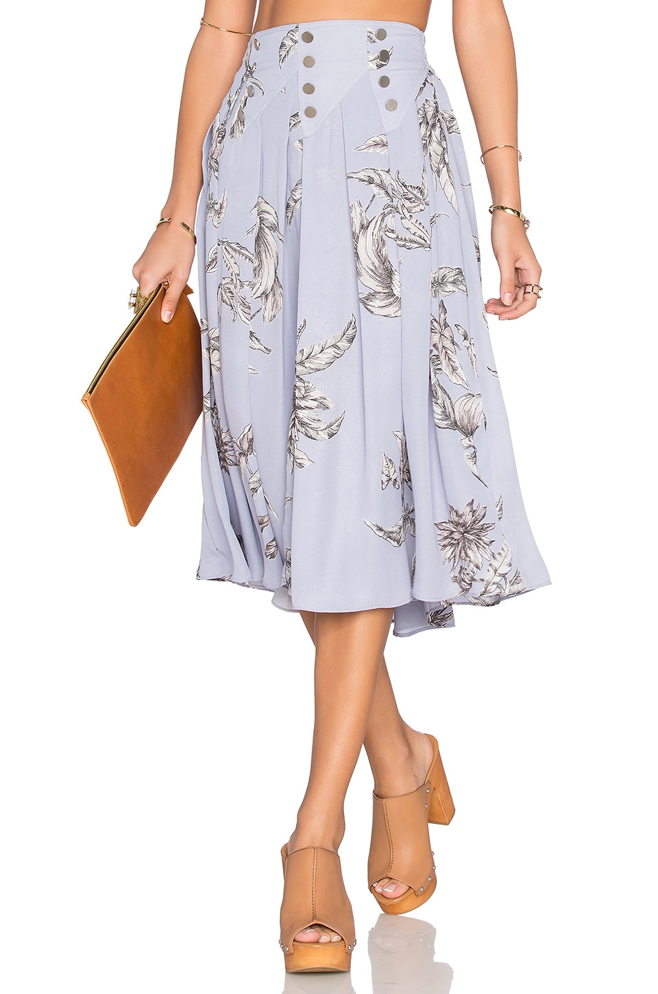 Tularosa Carver Skirt in Chambray