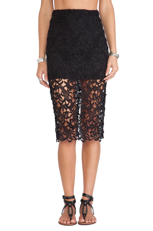 Tularosa Free Midi Skirt in Black