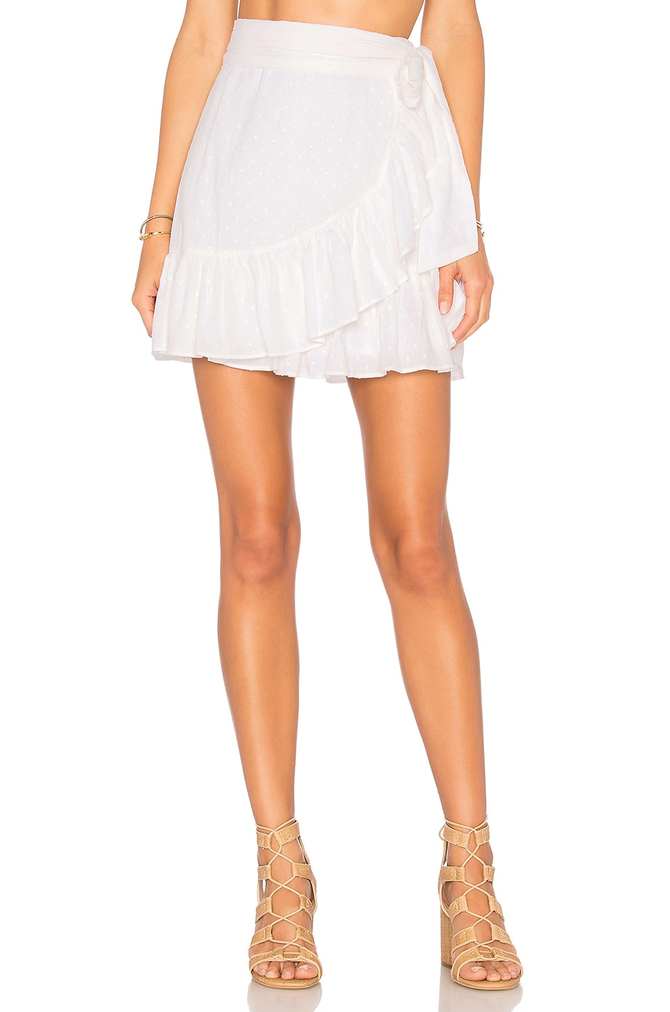 Tularosa x REVOLVE Maida Ruffle Skirt in White