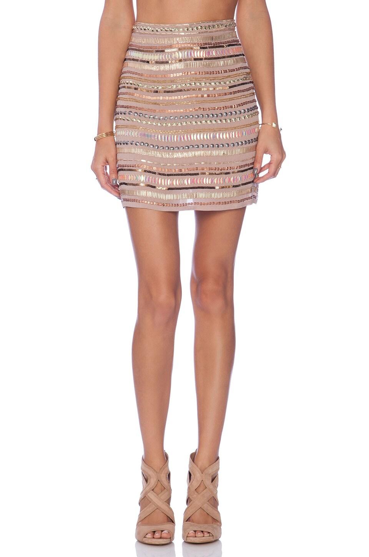 Tularosa x REVOLVE Crystal Skirt in Blush