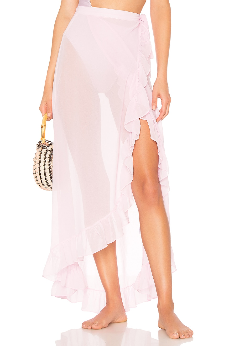 Tularosa Nala Wrap Skirt in Lilac
