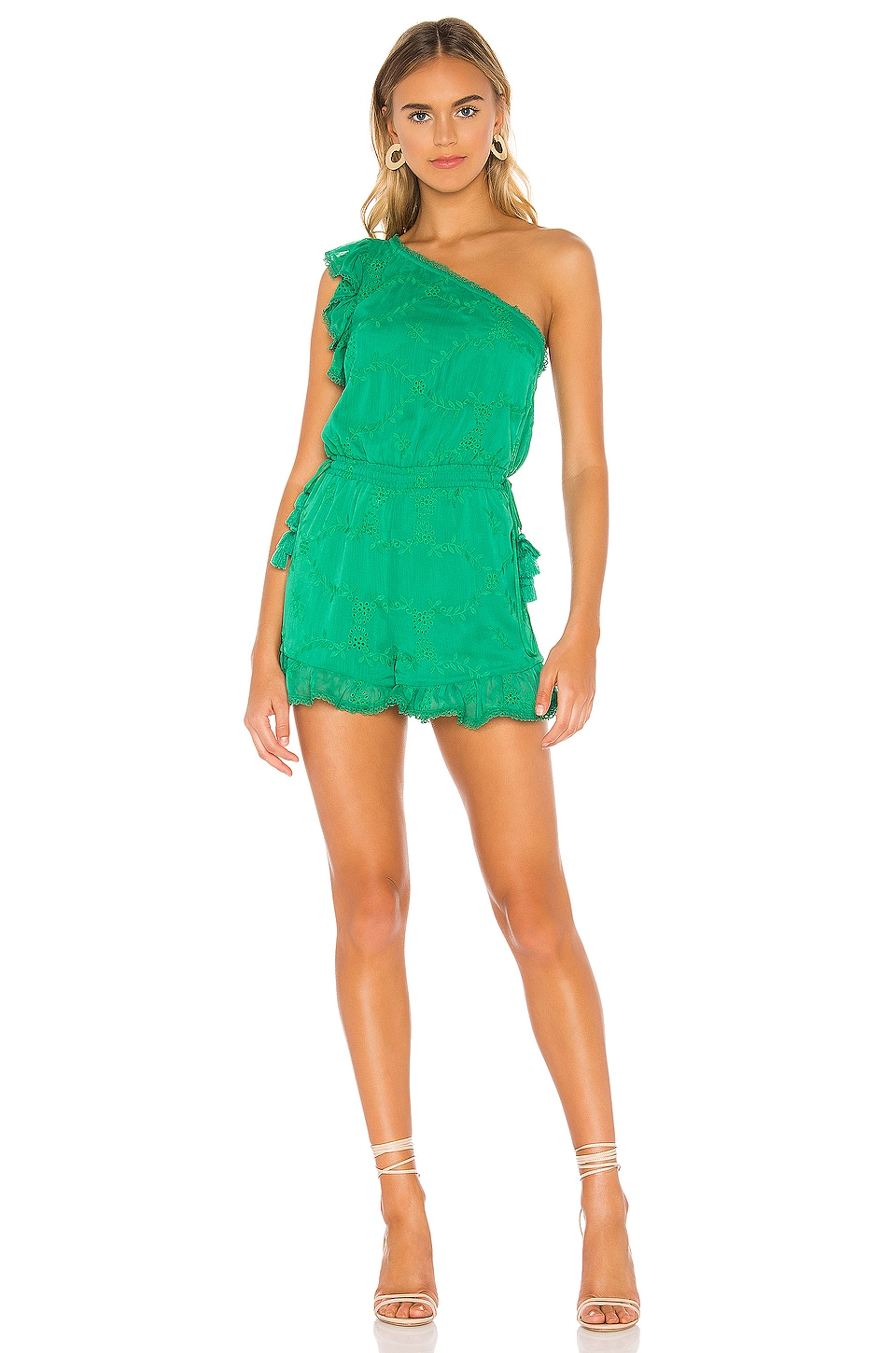 Tularosa Davey Romper in Green