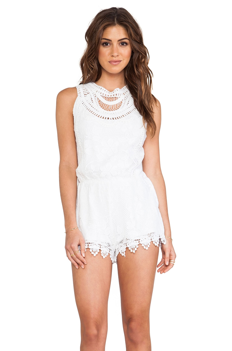 Tularosa Ace Romper in White