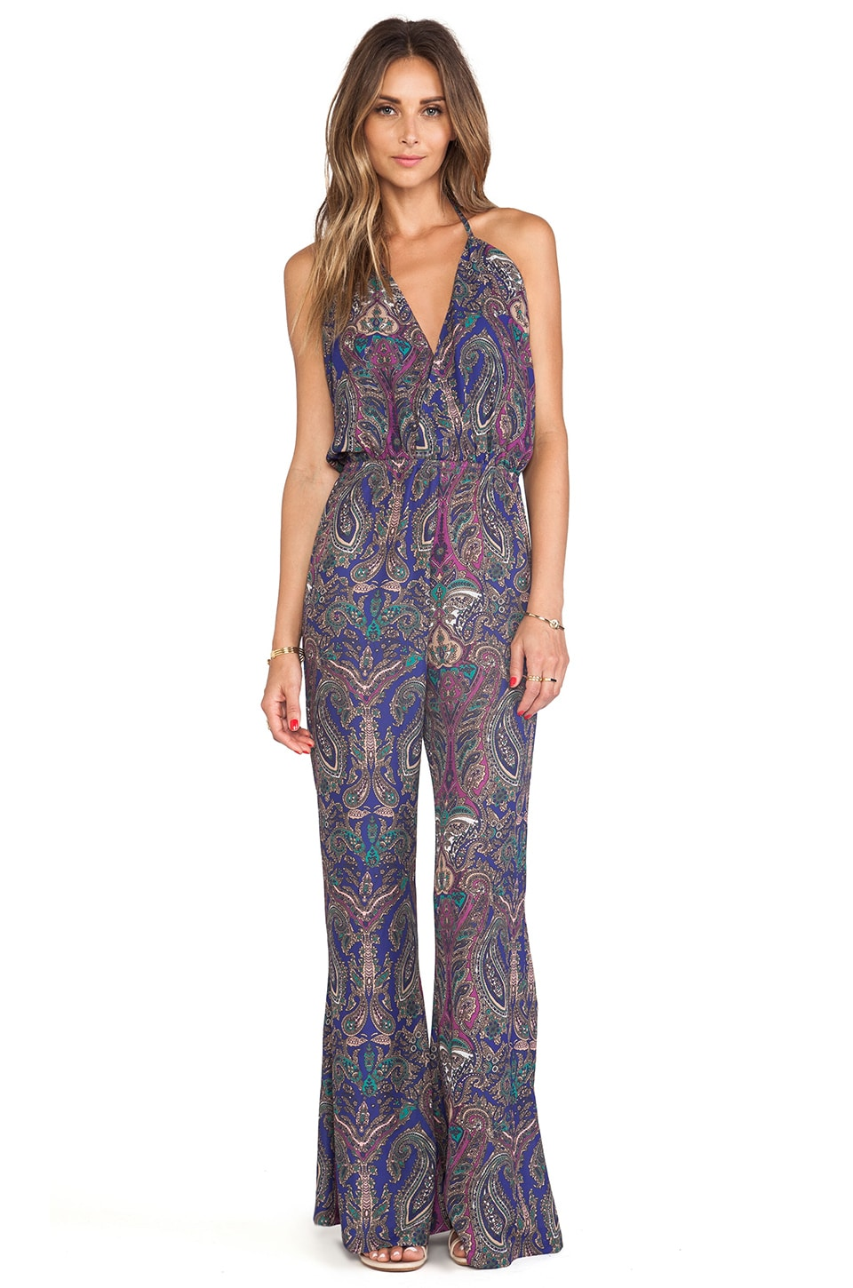 Tularosa Janelle Jumpsuit in Paisley Repeat