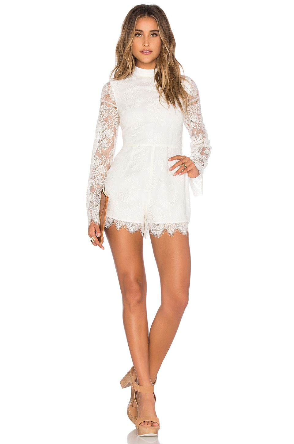 Tularosa Louis Romper in Ivory
