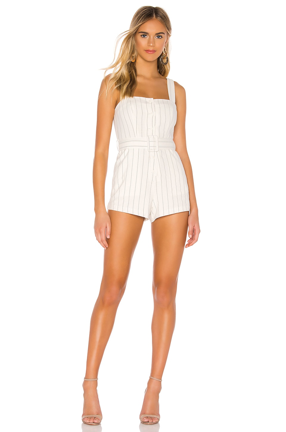 Tularosa Staycation Romper in White
