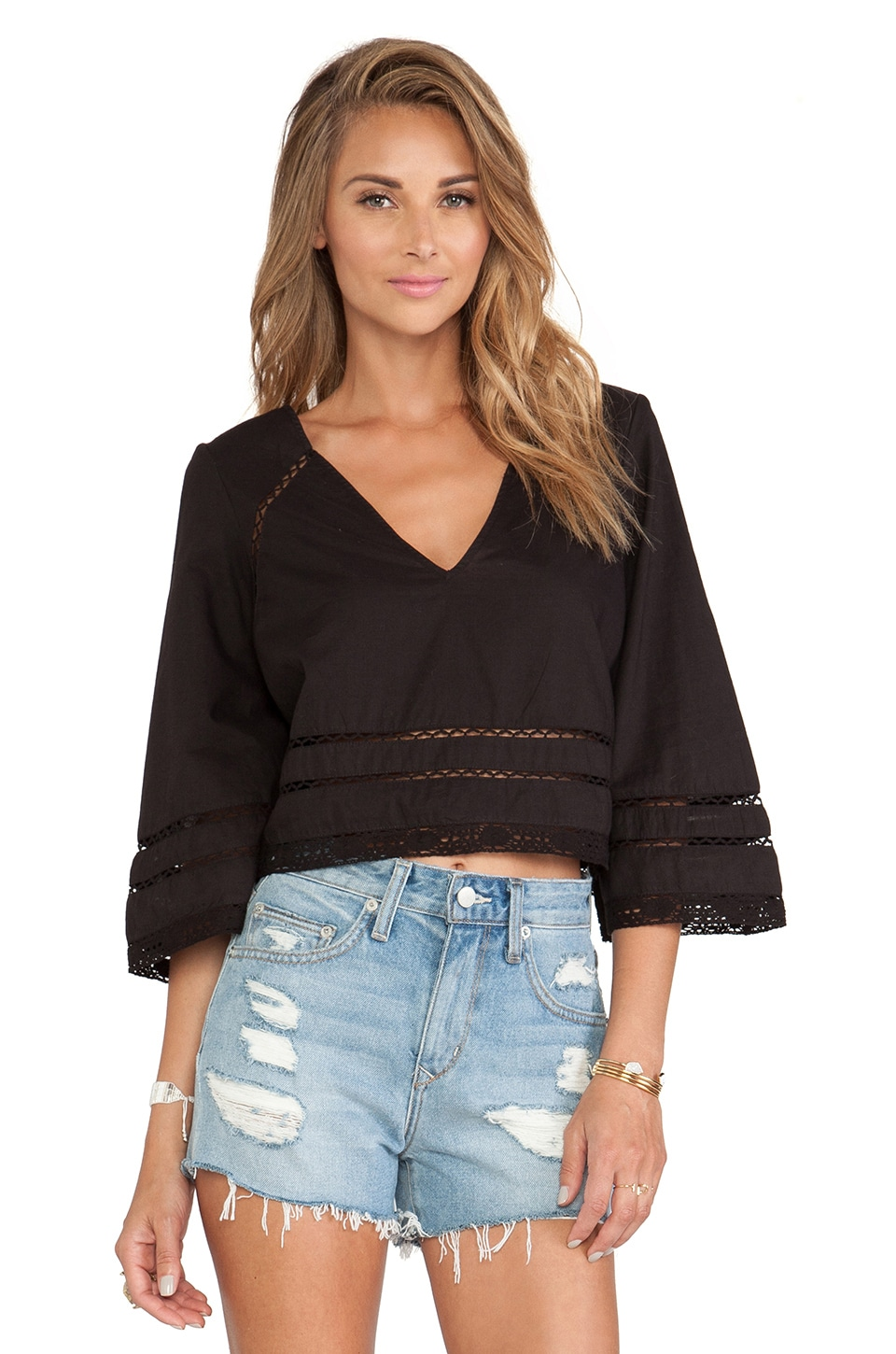 Tularosa Samantha Top in Black