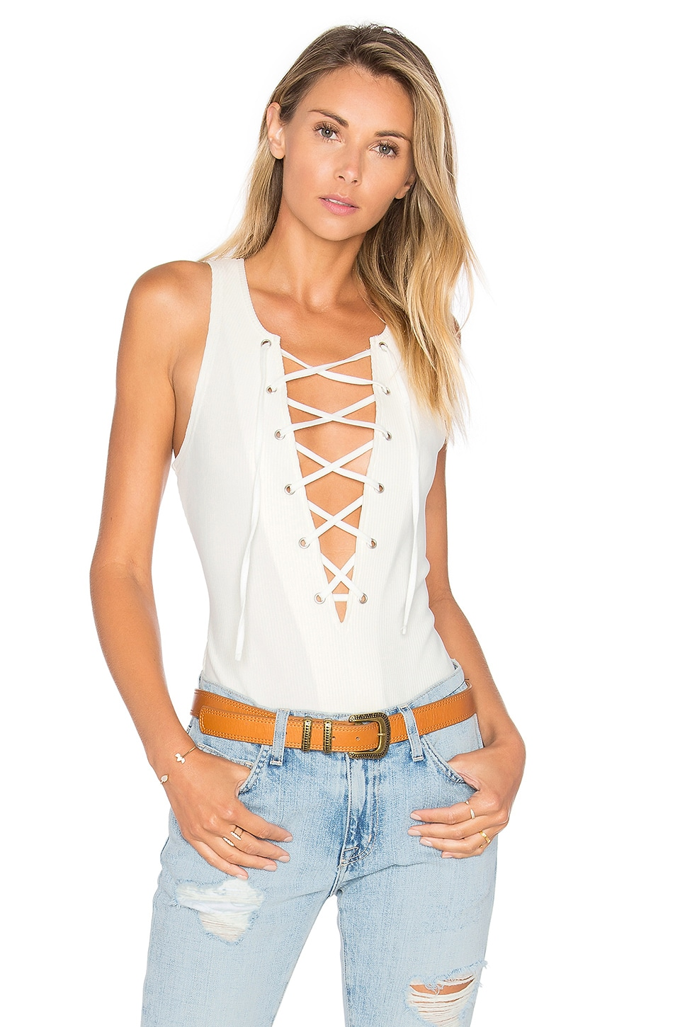 Tularosa Nile Bodysuit in Ivory