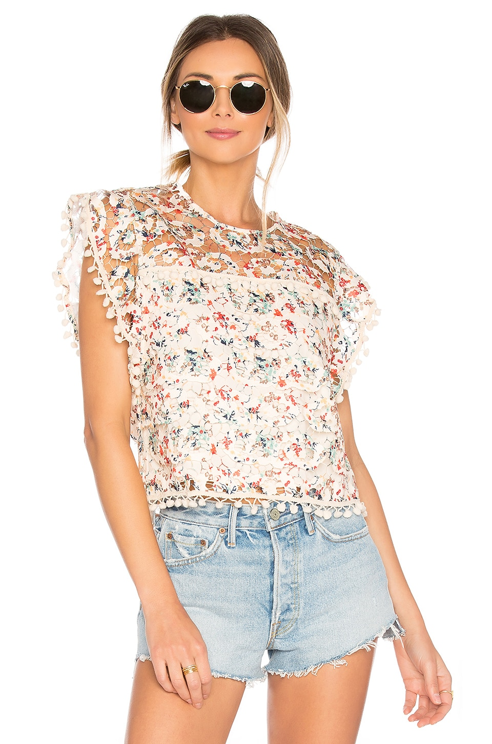 Tularosa Kennedy Top in Rainbow Lace