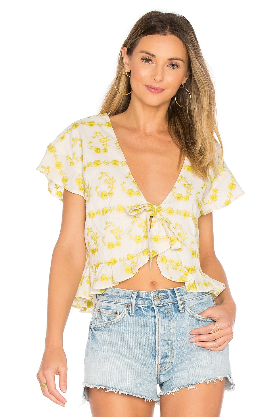 Winnie Blouse in Yellow. - size L (also in M,S,XS) Tularosa