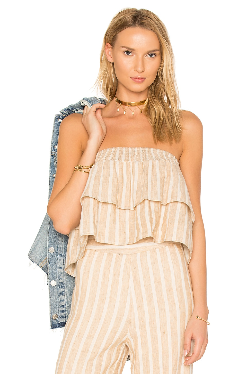 Tularosa Breanne Tank in Natural Stripe