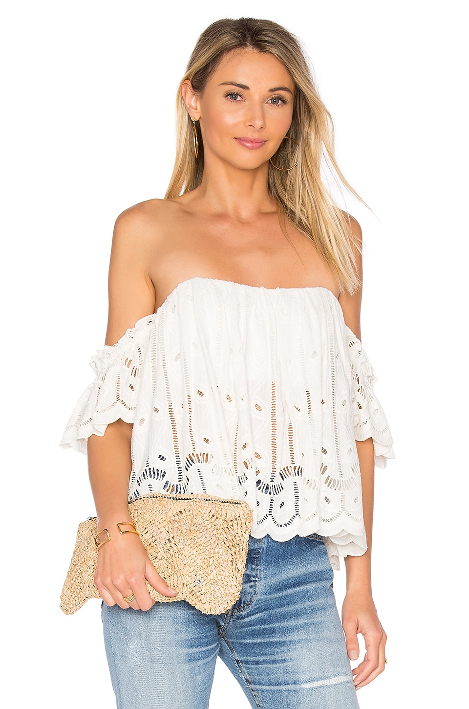 Tularosa Amelia Crop Top in Shell