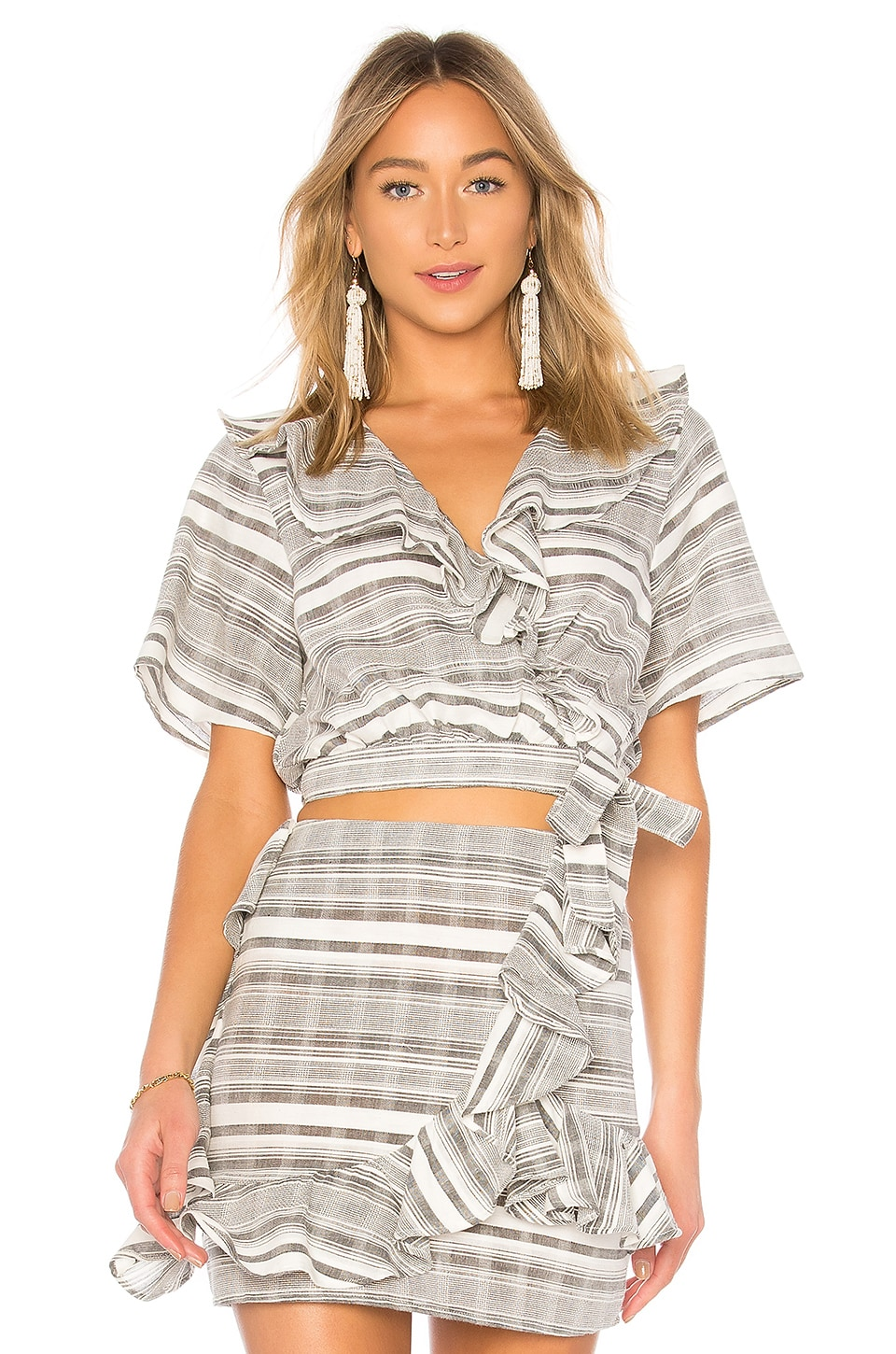 Tularosa Selma Wrap Top in Lakeside Stripe
