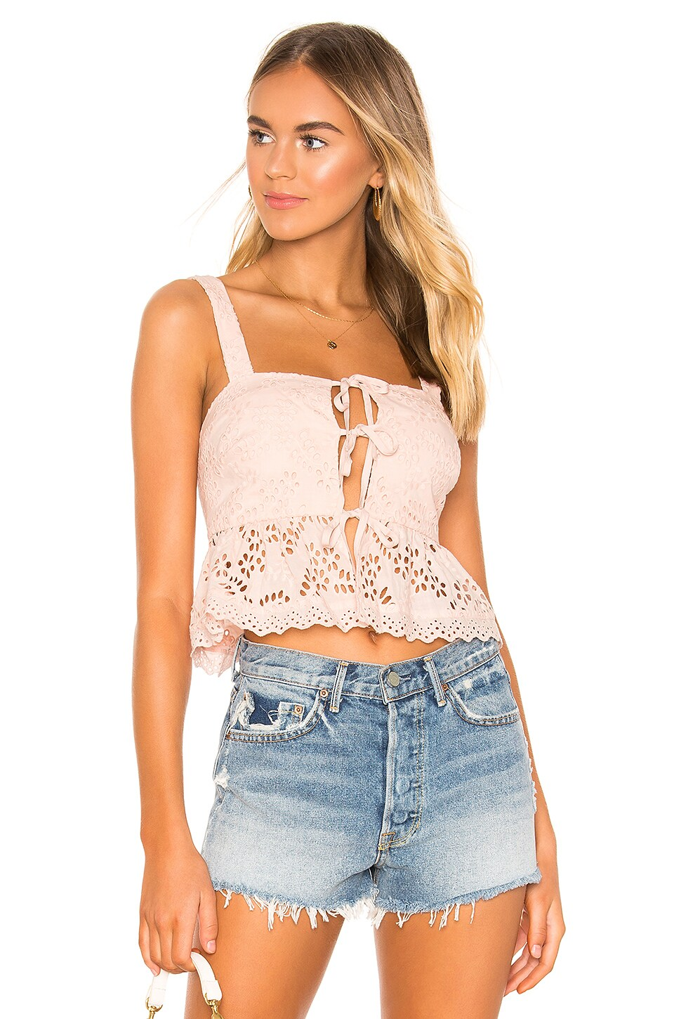 Tularosa Resort Fling Top in Blush