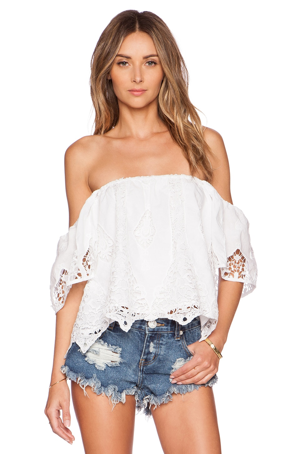Tularosa Dame Top en White