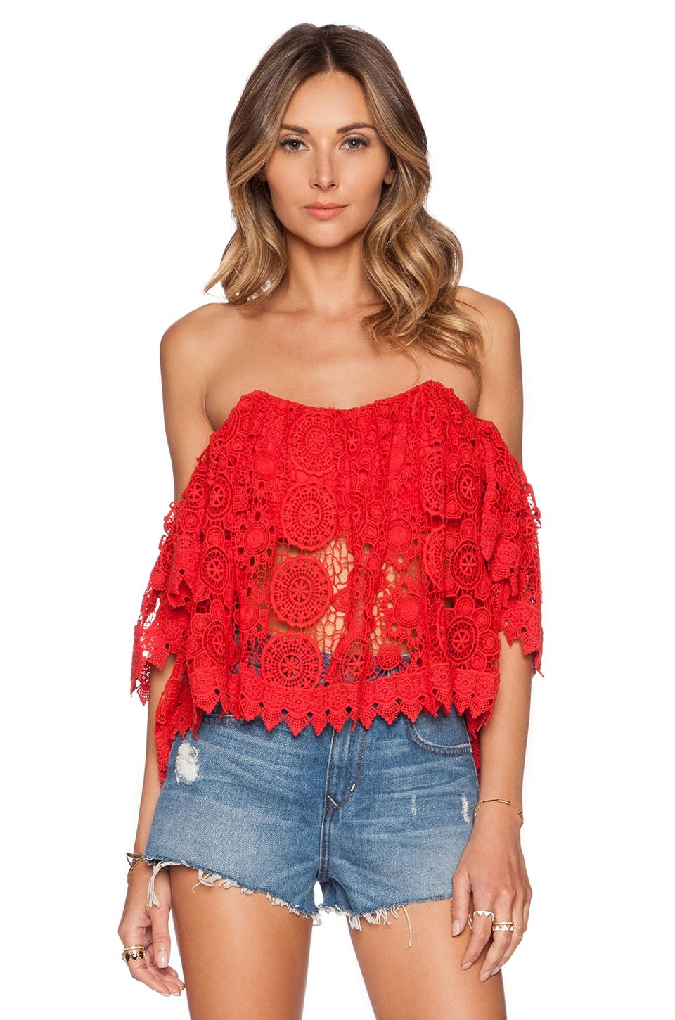 Tularosa Amelia Crop Top in Cayenne