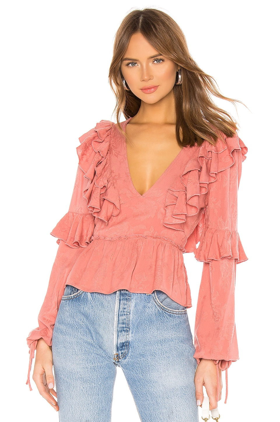 Tularosa Mabel Top in Dusty Rose