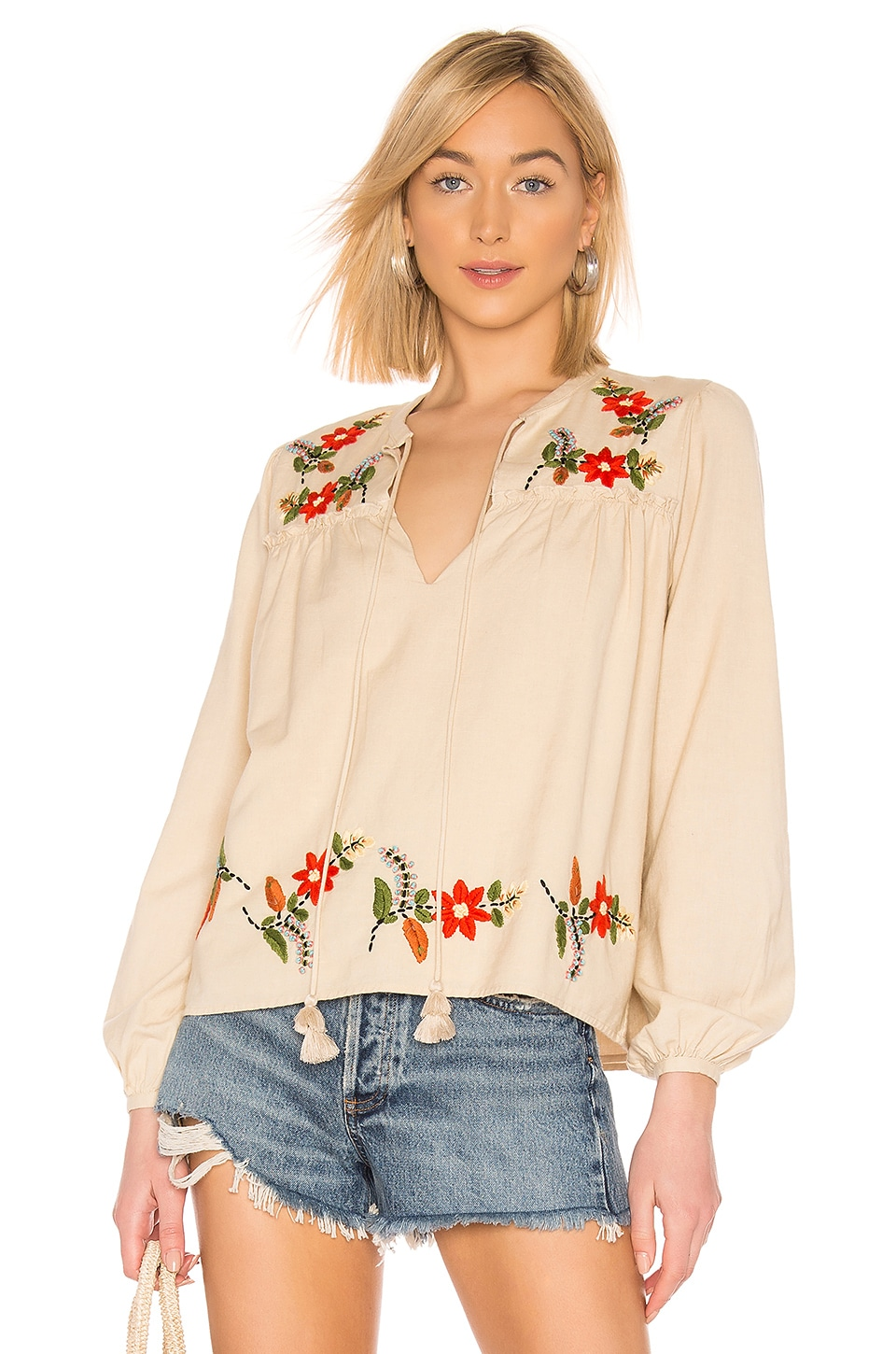 Tularosa Penelope Top in Natural Ivory